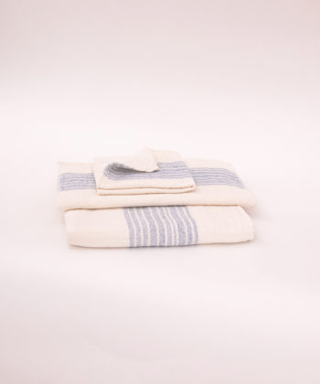 "Kontex Towels ""Flax"" blue"