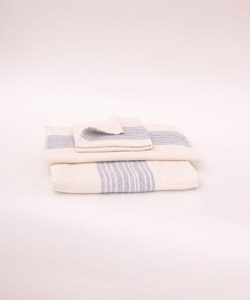 """Kontex Towels """"Flax"""" blue"""