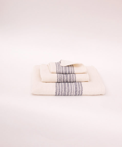 "Kontex Towels ""Flax"" Navy"