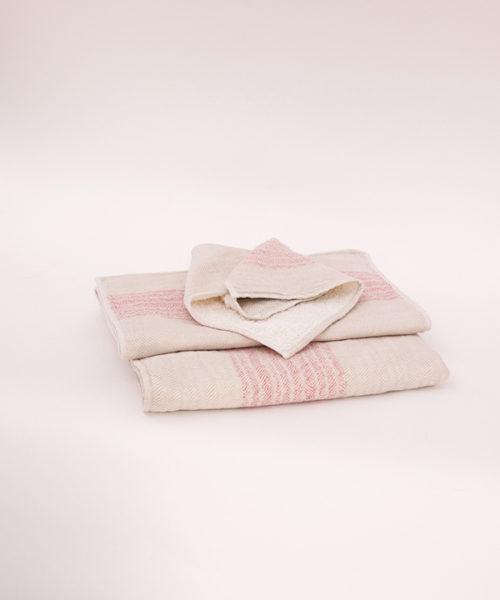 """Kontex Towels """"Flax"""" Pink"""
