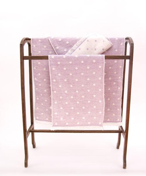 """Kontex Towels """"Waterdrop"""" purple"""